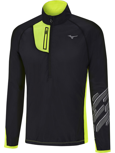Mizuno Static BT Windtop Jacket Men Black/Safety Yellow
